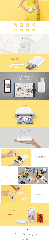 Xiaomi prenosni foto tiskalnik Mi Photo printer