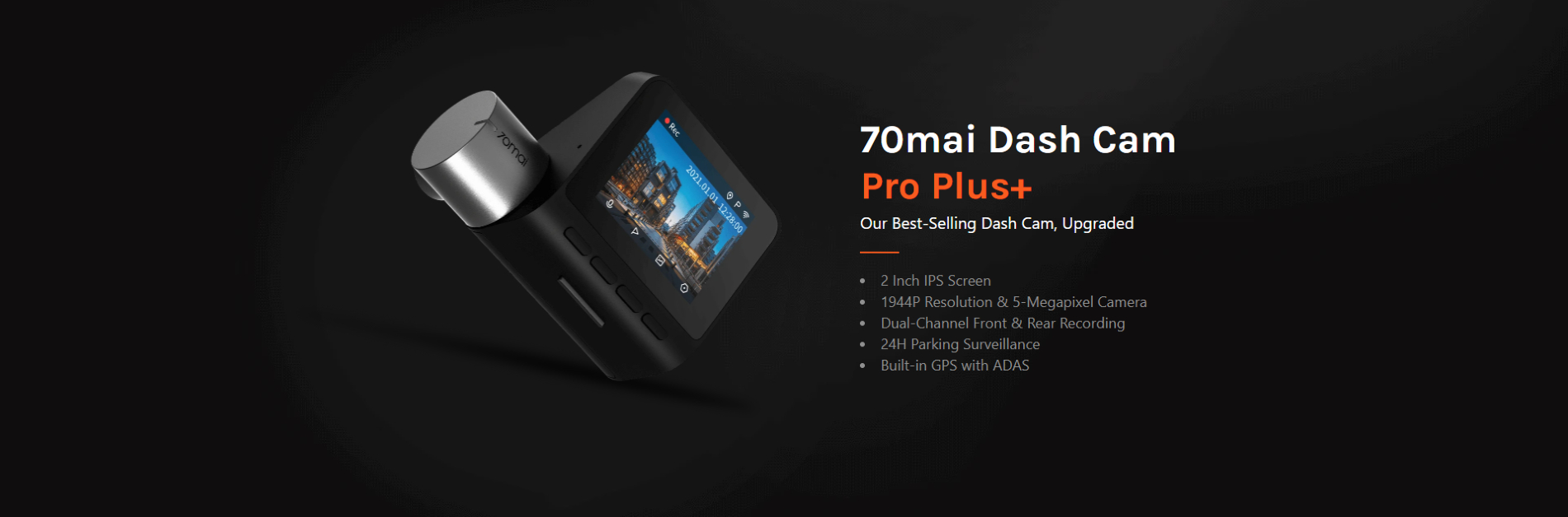 Specifikacije Dash cam Pro Plus A500S + RC06