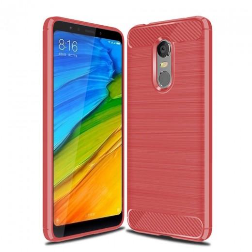 Silikonski ovitek / etui za Xiaomi Redmi 5 Plus Rdeč