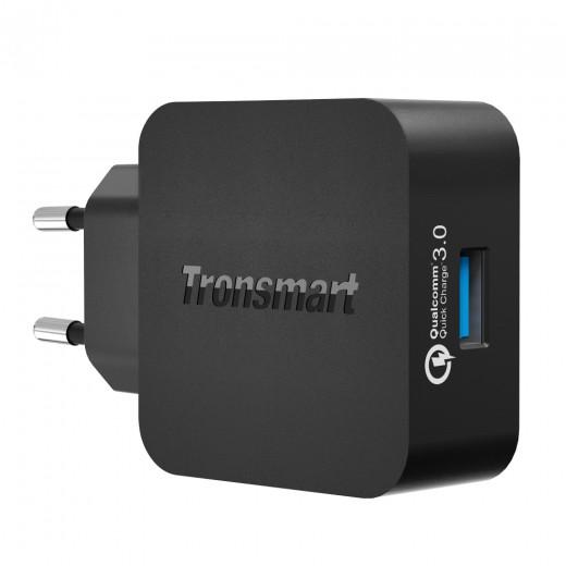 Tronsmart QuickCharge 3.0 Omrežni Polnilec Črn