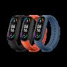 Silikonski Paščki za Xiaomi Mi Band 5 / 6 - Črn, Oranžen, Moder